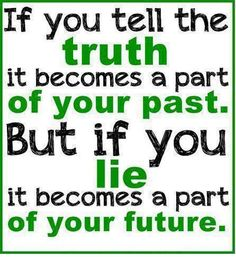 Always tell the Truth... ...