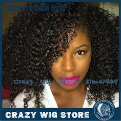 In Stock 100% Brazilian Human Hair Kinky Curly U Part Wig Natural Black Wig With Straps And Combs For Black Women Free Shipping