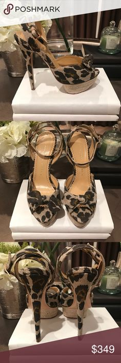Selling these ** CHARLOTTE OLYMPIA Espadrille Platform** NWT! on Poshmark! My username is: dsgnrdiscounts. #shopmycloset #poshmark #fashion #shopping #style #forsale #Charlotte Olympia #Shoes