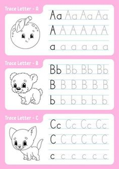 Alphabet Writing Worksheets, Alphabet Writing Practice, Learning The Alphabet, Worksheets For Kids, Writing Practice For Kids, Kids Writing, Alphabet Tracing, Alphabet Coloring Pages, Letters For Kids