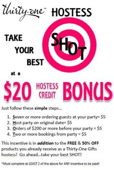 thirty one party booking flyer Thirty One Hostess, Thirty One Games, Thirty One Party, 31 Party, Host A Party, Direct Sales Party, Thirty One Organization, Thirty One Business, Thirty One Consultant