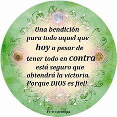 Una bendición para todo aquel que hoy a pesar de tener todo en contra está seguro que obtendrá la victoria. Porque DIOS ES FIEL!