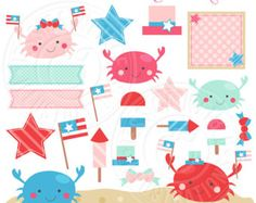 Clipart  Summer Clipart / A Day At The Beach summer clipart