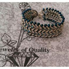 Brazalete azul milenium y plateado