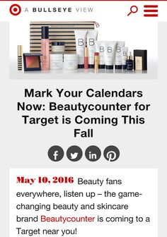 Dont wait for our short 9 week promo in @Target stores to make the switch to safe beauty