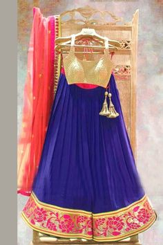 Buy Blue Georgette Designer Lehenga Online in low price at Variation. Huge collection of Designer Lehenga, Wedding Lehenga, Lehenga Choli, Ghaghra Choli, Bollywood Lehenga and Bridal Lehenga online for women at Variation. #designer #designerlehenga #lehenga #onlineshopping #latest #lowprice #variation  #weddinglehenga #lehengacholi #bollywoodlehenga #bridallehenga. To see more - https://www.variation.in/collections/lehenga