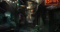 alleyway concept art - Google Search