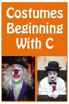 Cool selection of costumes beginning with the letter C, from crayons to clowns!