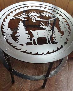 Custom Buck chevreuil découpé Silhouette ronde par LAZYKWroughtIron