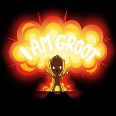 Groot is the Bomb T-Shirt Marvel TeeTurtle