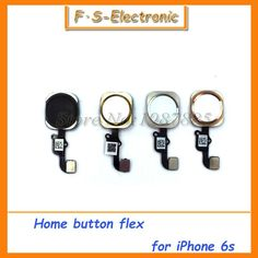 """10pcs/lot Home Button With Flex Cable Assembly Replacement Parts For iPhone 6S 4.7"""" iPhone 6s Plus 5.5"""" 4 colors"""