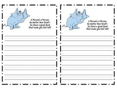 Writing activity for after horton hears a who