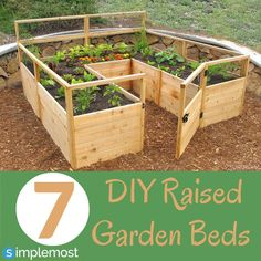 Give your backyard a rustic look with this raised garden bed.  Try out these 7 simple IDY ideas to spice up your garden! http://www.simplemost.com/?p=21401?utm_source=pinterest&utm_medium=referral&utm_campaign=organic