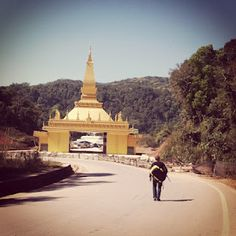 Emma's photo: Crossing the border from China into Laos.