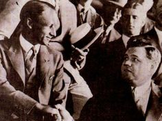The day two sporting titans in Sir Don Bradman and Babe Ruth met at a baseball game in 1932 Tours Of England, Babe Ruth, Still Standing, Baseball Games, Cricket, York, History, Sports, People