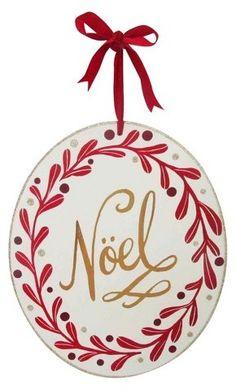 Wondershop 13'' Noel Round Hanging Sign