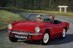 triumph spider red