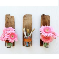 This is a great solution for my paint brushes! recycled decor - The Green Gypsie