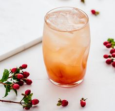 Rhubarb season is upon us and this sour cocktail, with just enough sweetness, is a delicious way to celebrate these tasty vegetables! Serves 2