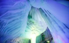 Ice Cave in Ningwu County, Shanxi Province, China