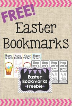 Free Easter Bookmarks | Rachel K Tutoring Blog