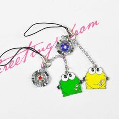 Cute frog couple phone pendant