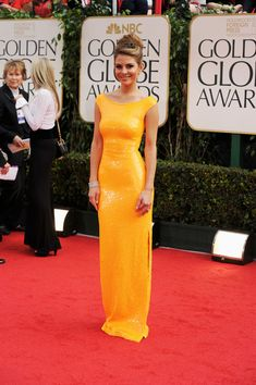 Maria Menounos, I love this yellow sparkely dress