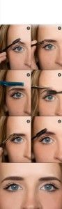 steps to pluck eye brow hairs