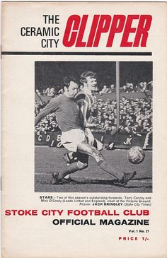 Vintage Football (soccer) Programme - Stoke City v Arsenal, 1968/69 season #soccer #football #stoke #arsenal