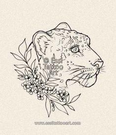Snow leopard by Essi Tattoo. Tattoo design online store: www.essitattooart.com