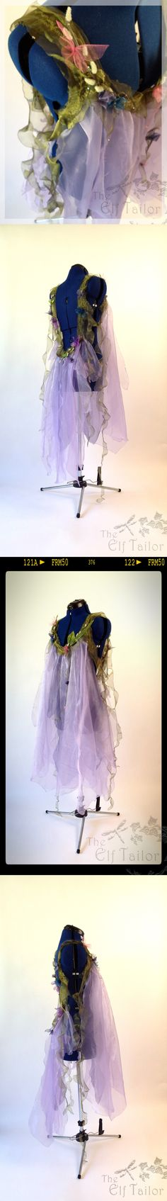 Lilac, Low-Back Fairy Dress (Close-Up) ~ Part of the Woodland Nymphs Costume Commission for New York Photographer Marque DeWinter ~ The Elf Tailor