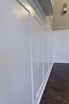 DIY wainscoting. Note to self: use this tutorial! Best pics and step by step instructions.