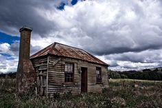 """An abandoned miners cottage a the site of an abandoned town, """"Hillsborough"""", in the hills above Yackandandah"""
