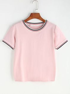 Camiseta contraste de rayas