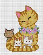 PINN Cross Stitch : Cat & KittensCross Stitch KitsonHappy Familycategory