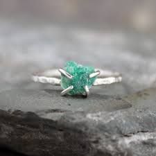Image result for contemporary sterling silver emerald ring