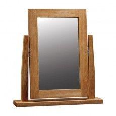 Brooklyn Oak Vanity Mirror Solid Oak Furniture, Oak Bedroom Furniture, Dressing Table Mirror, Tung Oil, Modern Contemporary, Brooklyn, Vanity, Interior, Home Decor
