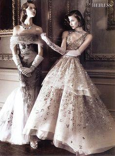 (Carolina Herrera & Oscar de la Renta, Vogue US May 2010)