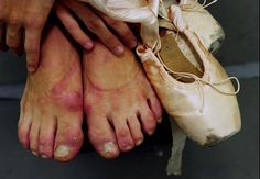 pointe..if there is not blood stains on your shoes you are not doing it right...