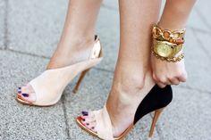Nude + Black Heels / Zara