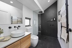 'Wow factor': An elegant ensuite with freestanding bath and double shower was the cherry on top Reece Bathroom, Laundry In Bathroom, Bathroom Inspo, Bathroom Inspiration, Master Bathroom, Bathroom Ideas, Downstairs Bathroom, Bathroom Interior, Tile Bathrooms