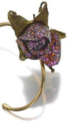 Rose bangle by Joel Arthur Rosenthal, JAR Paris
