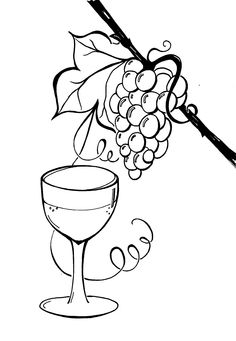 for Paula on Christmas.Wine and grapes drawing, original design, pen and ink. Grape Drawing, Plastic Bottle Art, Black And White Lines, Silver Wings, Christmas Wine, Homemade Cards, Grape Vines, Line Art, Painting & Drawing