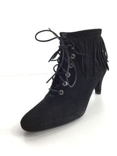 60a23713ba6 F2 NEW Maje Fox Black Suede Booties Women Size 37  fashion  clothing  shoes   accessories  womensshoes  heels (ebay link)