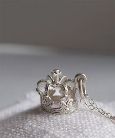 Loving this Sterling Silver Crown Pendant Necklace on #zulily! #zulilyfinds