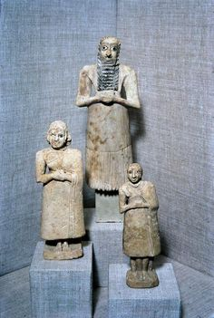Sumerian Statues From Abu Temple.