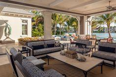 Joy Tribout Interior Design Outdoor Living Areas, Outdoor Spaces, Outdoor Decor, Beautiful Home Designs, Beautiful Homes, Porch Furniture, Outdoor Furniture Sets, Porches, Beach Patio