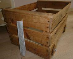 Chariot/coffre à jouets rétro/indu en bois (collection Avoriaz) : Chambre d'enfant, de bébé par laile-ouest