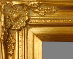 """Beautiful Picture Frame! Perfect For Artwork, Photographs, Canvas Paintings, Oil Paintings, Watercolor Paintings, Acrylic Paintings, Portraits, Wedding Pictures, Diplomas, Family Photographs & More.  Ornate Gold 2.75"""" Wide Picture Frame."""