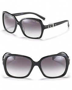 31b5c80e1a Jimmy Choo black with silver buckle sunglasses  JimmyChoo Jimmy Choo Glasses